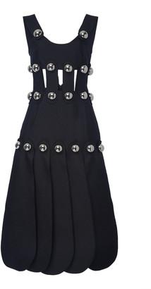 Christopher Kane Dome-Embellished Caged Crepe Midi Dress