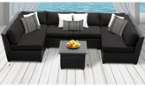 Tegan 7 Piece Sectional Seating Group with Cushions Sol 72 Outdoor Cushion Color: Black