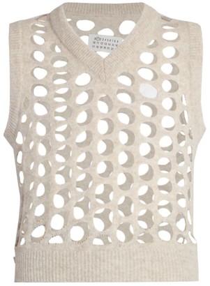 Maison Margiela Perforated Wool Sweater Vest