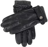 Dents Henley Black Touchscreen Leather Gloves