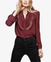 Free People All Shook Up Pleated Shirt