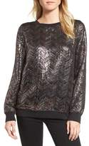 Hinge Metallic Chevron Top