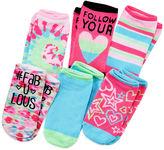 JCPenney Total Girl 6-pk. Printed No-Show Socks - Girls 7-16