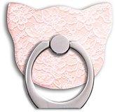 Universal Phone Ring Bracket holder ,Cat Shape Finger Grip Stand Holder Ring Car Mount Phone Ring Grip Smartphone Ring stent Tablet (Flower)