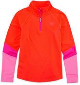 Champion Long-Sleeve Colorblock Quarter-Zip Shirt - Girls