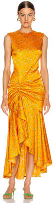 Caroline Constas Lonnie Dress in Tangerine | FWRD