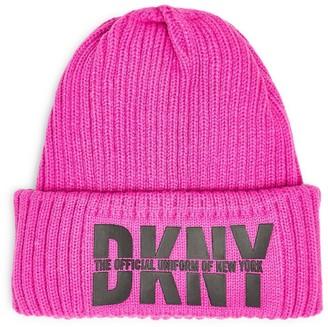 DKNY Logo Beanie