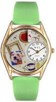 Whimsical Watches Women's C0410002 Classic Gold Scrapbook Red Leather And Goldtone Watch