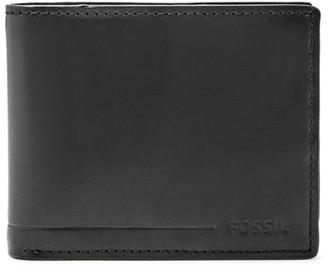 Fossil Allen Rfid Traveler Wallet Black