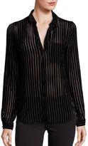 Paige Linara Striped Velvet Blouse