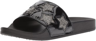 Kenneth Cole Reaction Women's Pool Spash Slide Sandal with Stars