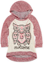 Knitworks Knit Works 3/4-Sleeve Hooded Graphic Top with Necklace - Girls Plus