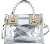 FANCY LOVE BOUTIQUE FANCY LOVE Work Waterproof Tote Purse Clear Shoulder Handbags Stripe Clear Transparent Beach Bag