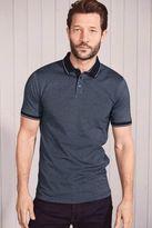 Next Mens Navy Short Sleeve Polo