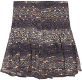 Printed silk-georgette mini skirt
