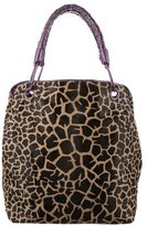 Nancy Gonzalez Crocodile-Trimmed Ponyhair Tote