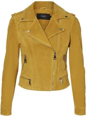 Dorothy Perkins Womens **Vero Moda Yellow Suede Jacket, Yellow
