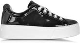 Kenzo K-Lace Black Patent Leather Platform Sneaker