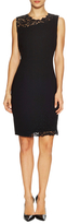 Elie Tahari Emory Dress with Embroidered Lace Trim