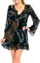 Olivaceous Print Midi Dress