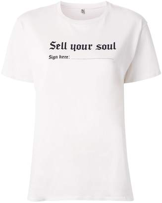 R 13 sell your soul print T-shirt