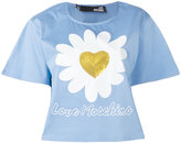 Love Moschino sequins heart T-shirt - women - Cotton/Polyester/Spandex/Elastane - 44