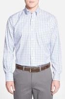 Peter Millar Men's 'Nanoluxe' Regular Fit Wrinkle Free Tattersall Twill Sport Shirt