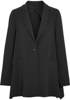 Max Mara Wool-blend Crepe Blazer - Black