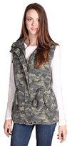 Velvet by Graham & Spencer Women's Camo Print Pocket Army Vest