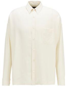 BOSS Relaxed-fit shirt in Italian silk twill