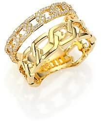 Marli Women's Alibi Diamond & 18K Yellow Gold Multi-Strand Ring