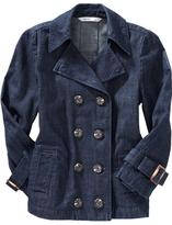 Old Navy Women's Cropped Button-Front Trench Coats