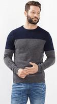 Esprit OUTLET colour block jumper in wool blend