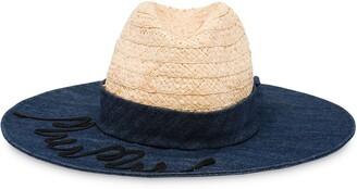 Miu Miu Logo Embroidered Sun Hat