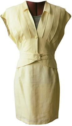 Thierry Mugler \N Yellow Linen Jackets