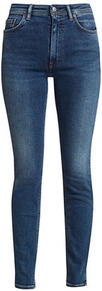 Acne Studios Faded High-Rise Slim-Leg Jeans