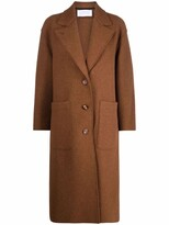 Thumbnail for your product : Harris Wharf London Notched Lapels Single-Breasted Coat