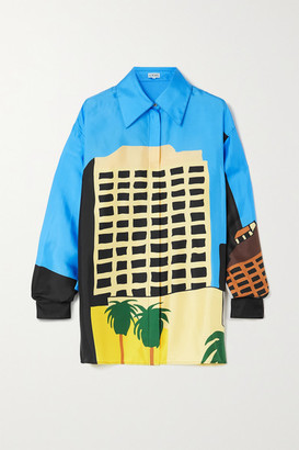 Loewe + Ken Price La Series Printed Silk-satin Shirt - Black