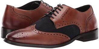 Carlos by Carlos Santana Szabo Wingtip Oxford (Walnut Calfskin Leather/Suede) Men's Shoes