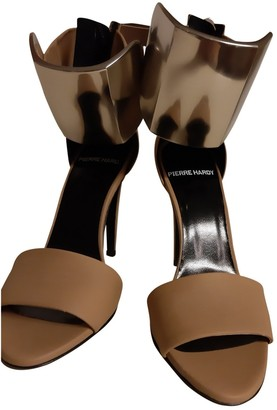 Pierre Hardy Beige Leather Sandals