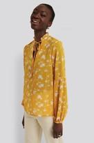 NA-KD Printed Long Sleeve Blouse