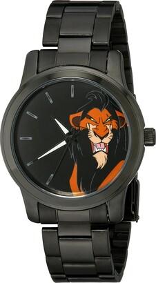 Disney Men's W002139 Lion King Analog Display Analog Quartz Black Watch