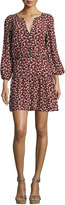 BA&SH Catarina Split-Neck Printed Dress