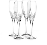 Mikasa Orion Set of 4 Crystal Champagne Flute Glasses