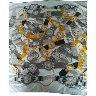 Cartier Beige Silk Silk handkerchief