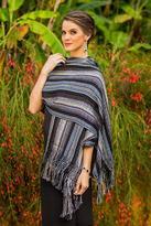 Cotton shawl, 'Atitlan Nights'