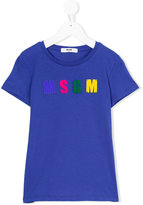 MSGM logo print T-shirt - kids - Cotton - 8 yrs