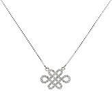 Melissa Odabash Swarovski Crystal Eternal Pendant Necklace, Silver