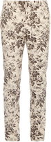 Gucci Herbarium-print cotton-gabardine trousers