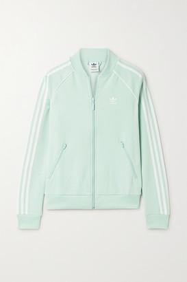 adidas Superstar Striped Tech-jersey Track Jacket - Mint